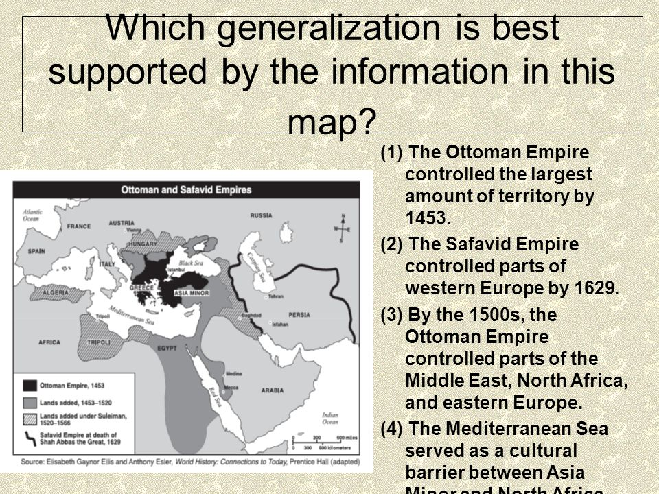 Which generalization is best supported by the information in this map