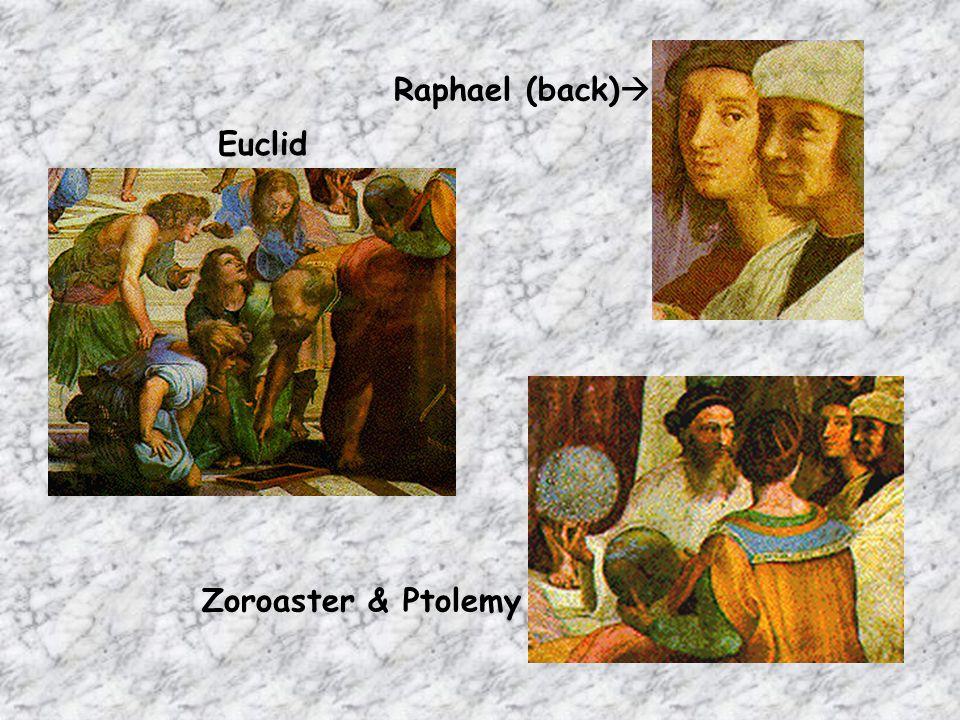 Raphael (back) Euclid Zoroaster & Ptolemy