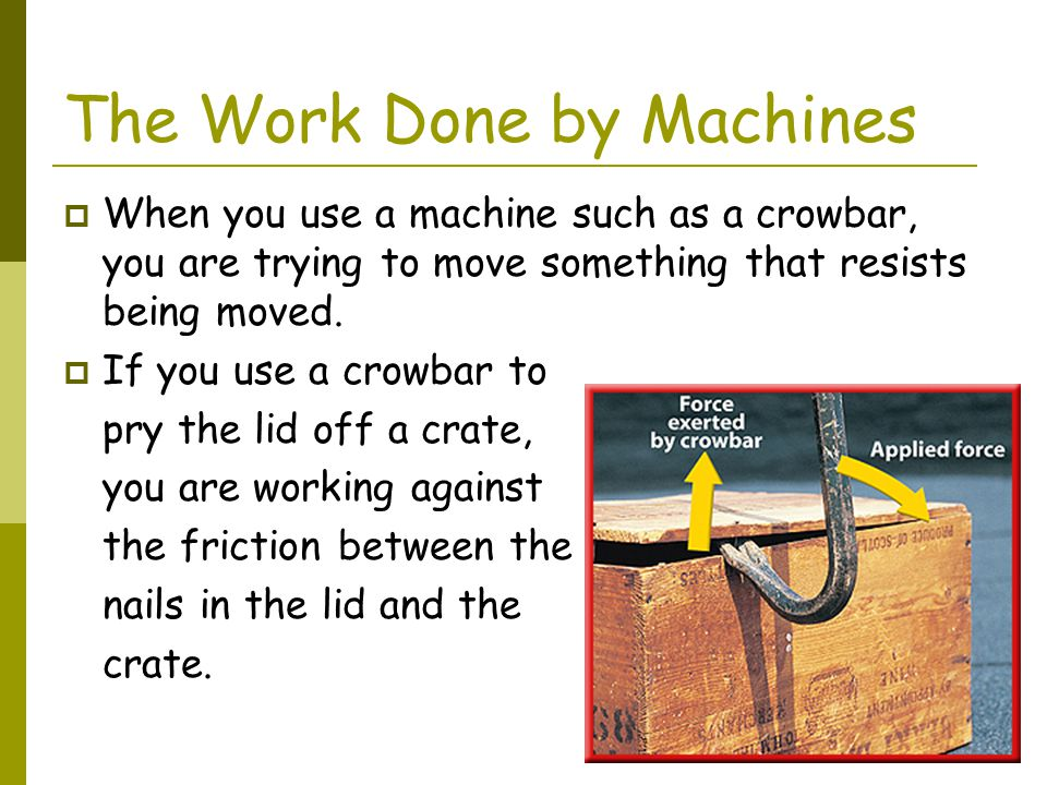The Work Done by Machines