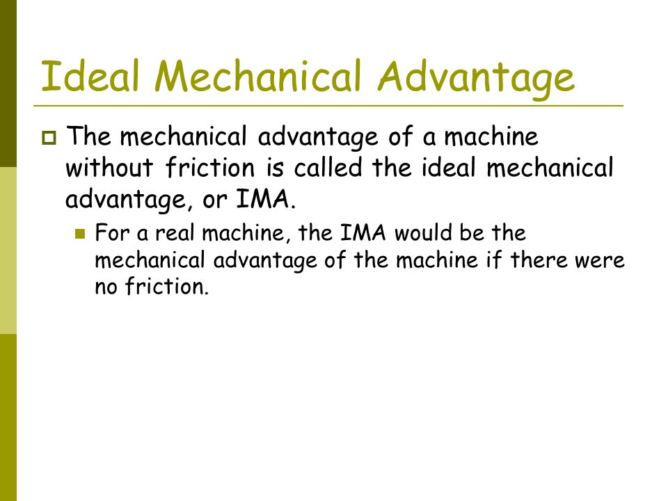 how to find the ideal mechanical advantage of a ramp