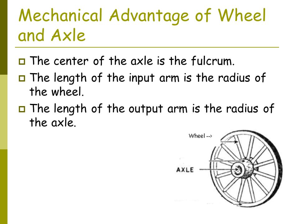 Mechanical Advantage of Wheel and Axle