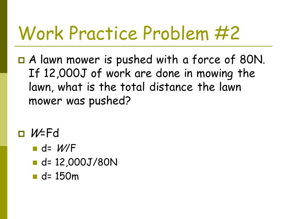 Work Practice Problem #2