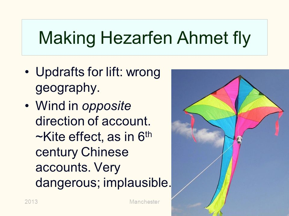 Making Hezarfen Ahmet fly