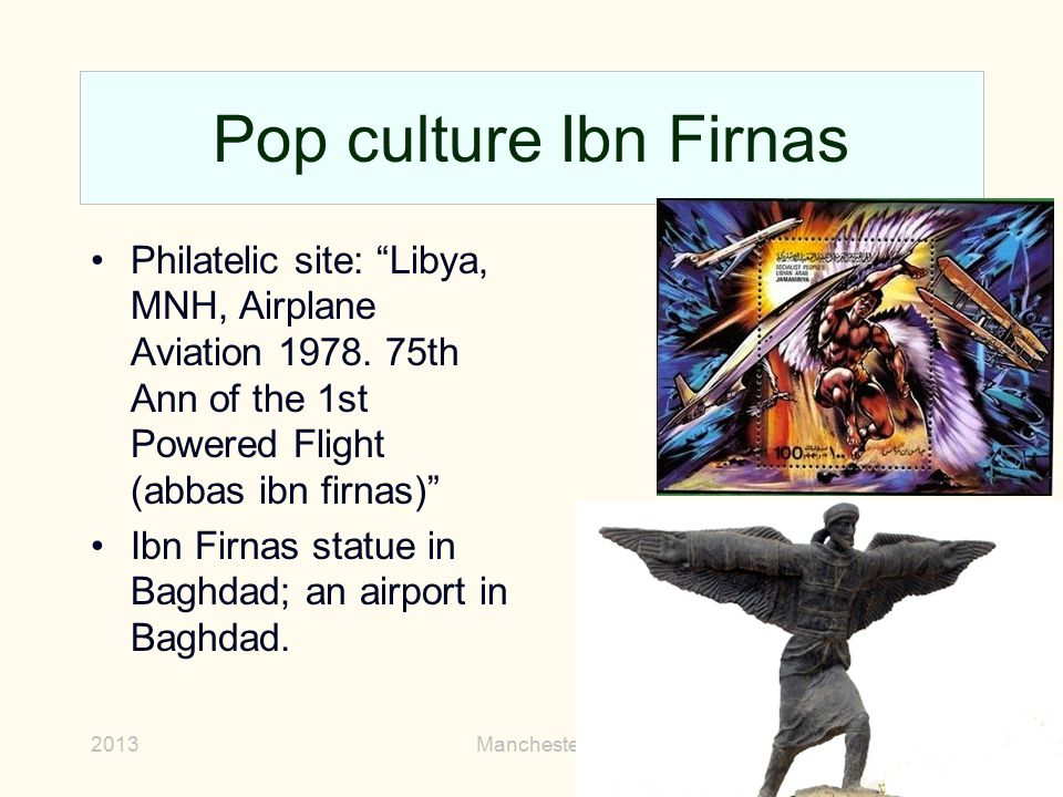 Pop culture Ibn Firnas Philatelic site: Libya, MNH, Airplane Aviation 1978. 75th Ann of the 1st Powered Flight (abbas ibn firnas)