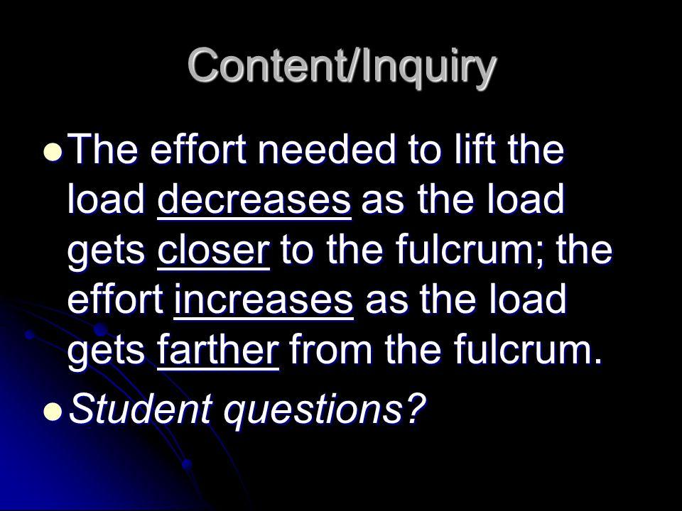 Content/Inquiry
