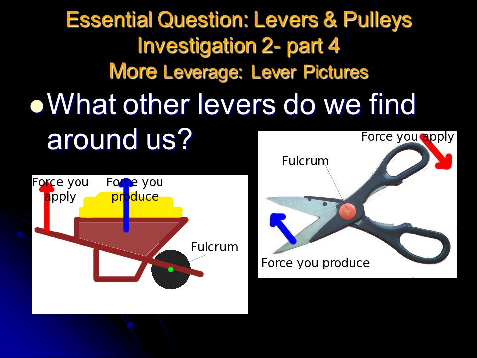 What other levers do we find around us