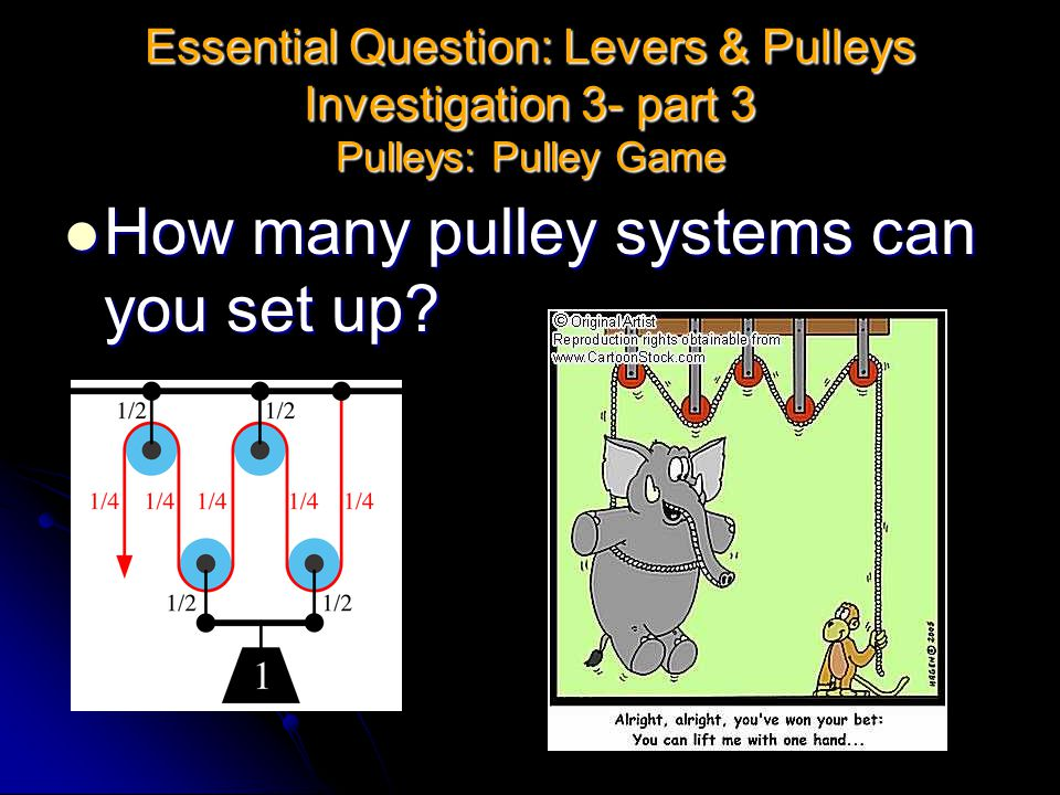 How many pulley systems can you set up