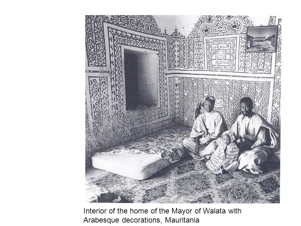 Interior of the home of the Mayor of Walata with