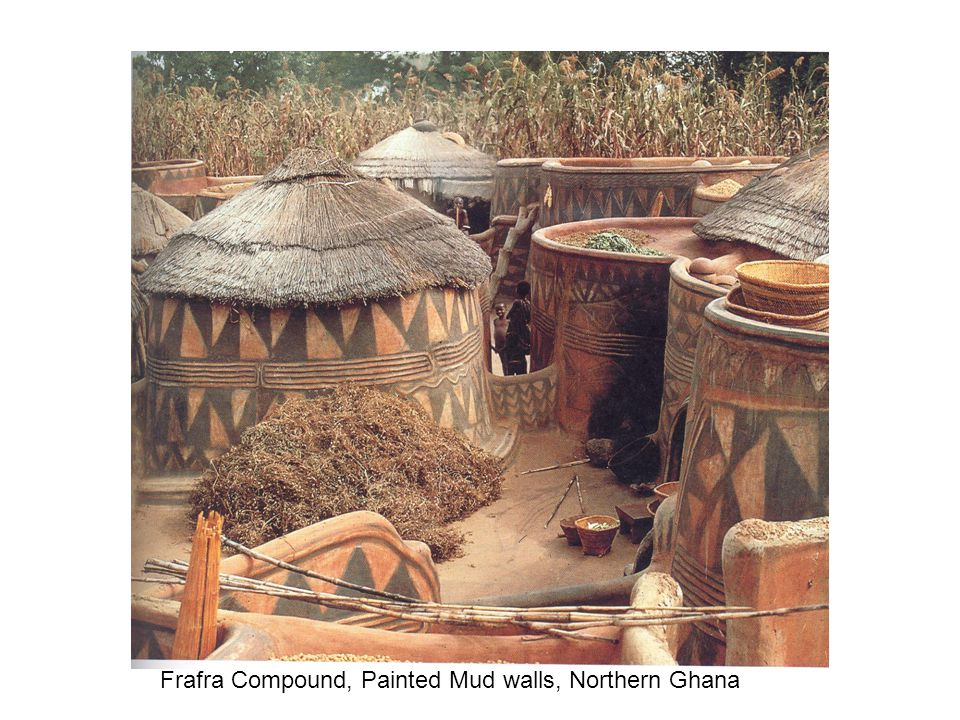 Frafra Compound, Painted Mud walls, Northern Ghana