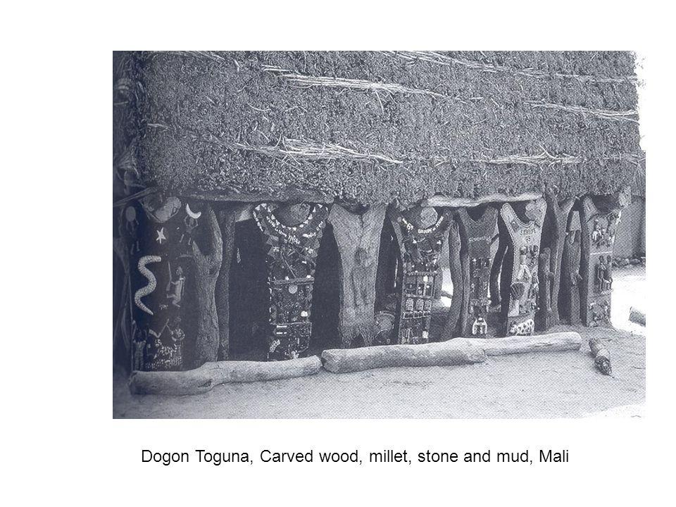 Dogon Toguna, Carved wood, millet, stone and mud, Mali
