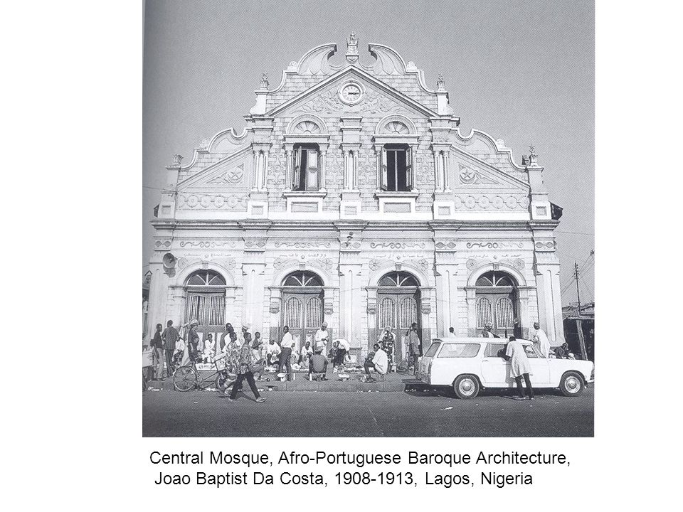 Central Mosque, Afro-Portuguese Baroque Architecture,