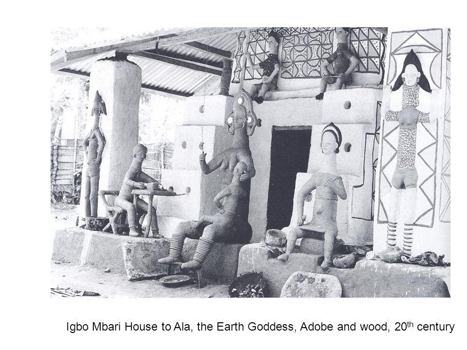 Igbo Mbari House to Ala, the Earth Goddess, Adobe and wood, 20th century