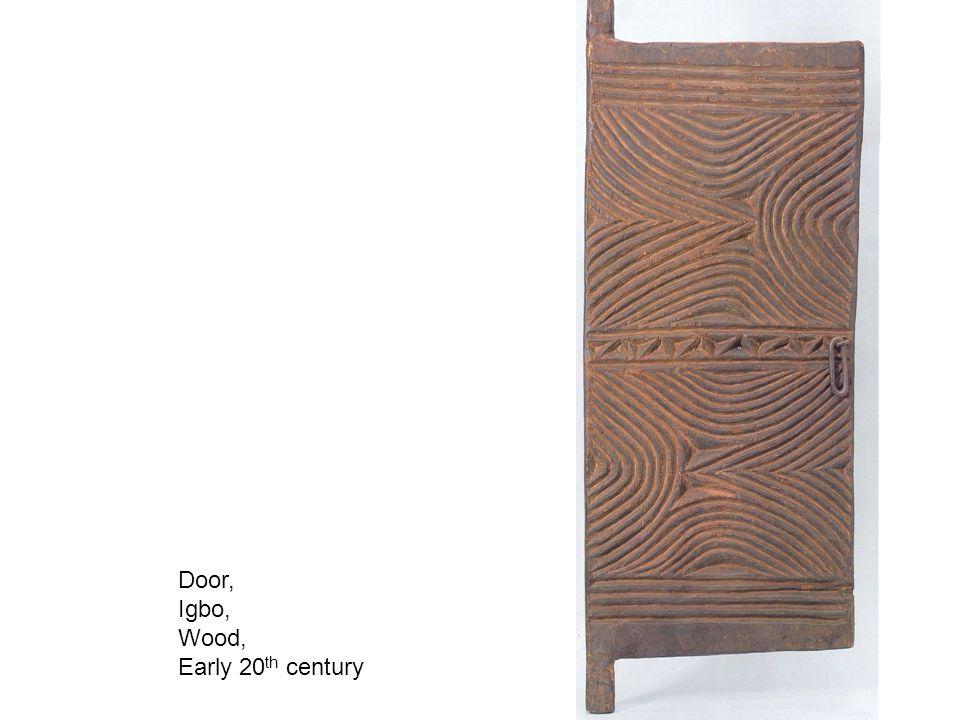 Door, Igbo, Wood, Early 20th century