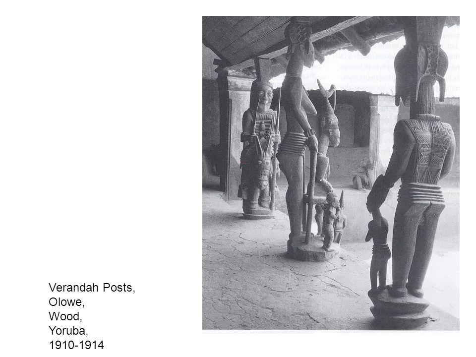 Verandah Posts, Olowe, Wood, Yoruba, 1910-1914