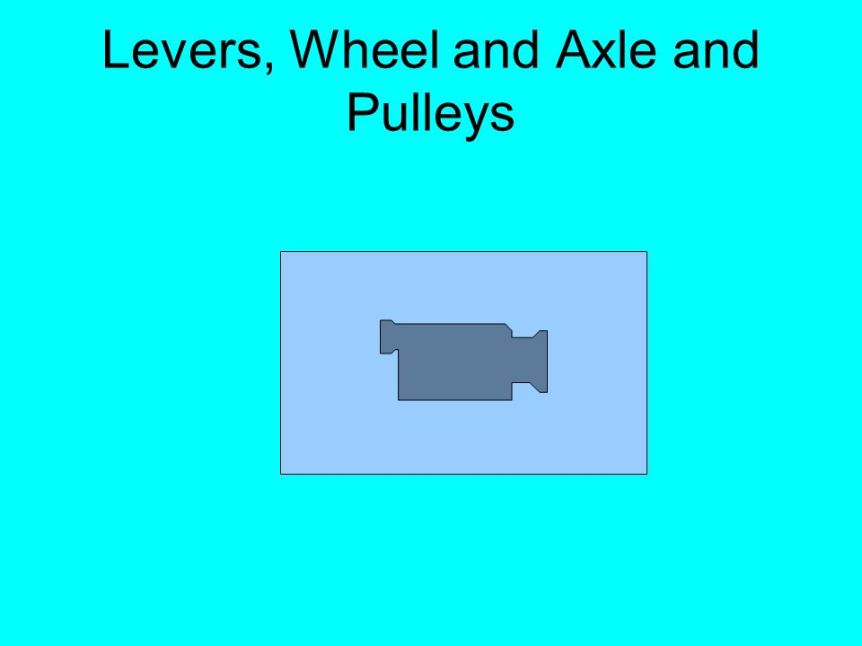 Levers, Wheel and Axle and Pulleys