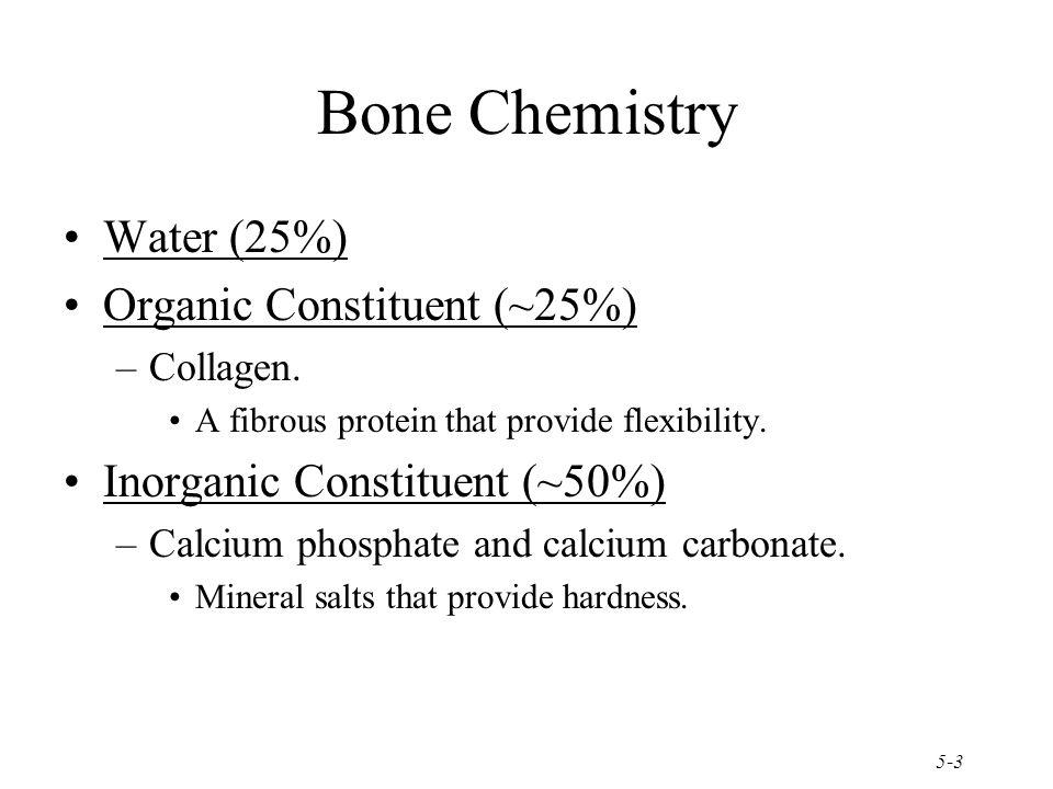 Bone Chemistry Water (25%) Organic Constituent (~25%)