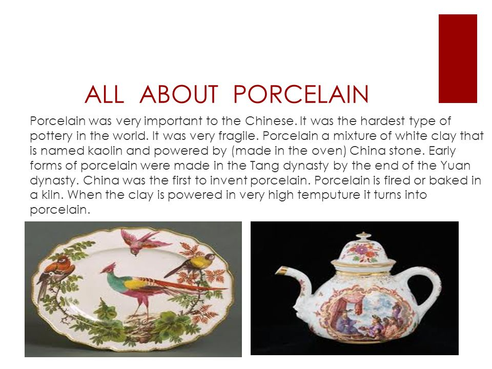 ALL ABOUT PORCELAIN