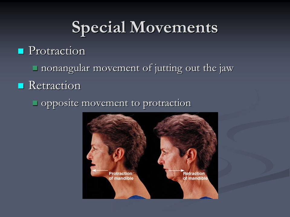 Special Movements Protraction Retraction