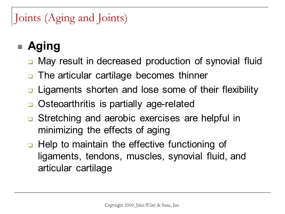 Joints (Aging and Joints)