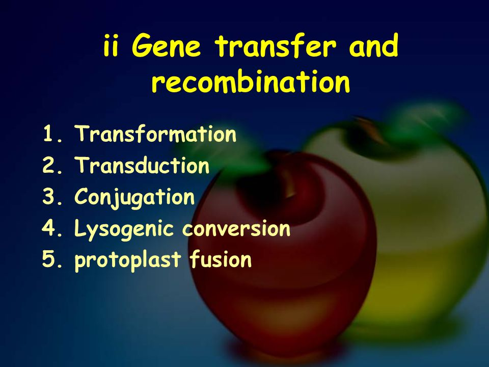 ii Gene transfer and recombination