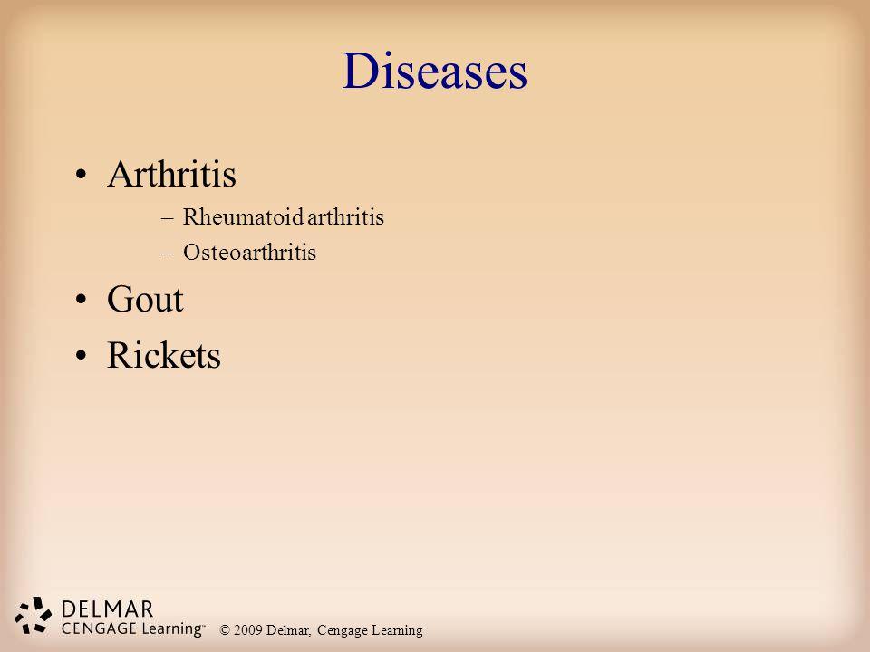 Diseases Arthritis Rheumatoid arthritis Osteoarthritis Gout Rickets