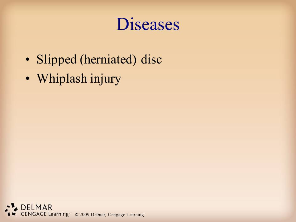 Diseases Slipped (herniated) disc Whiplash injury