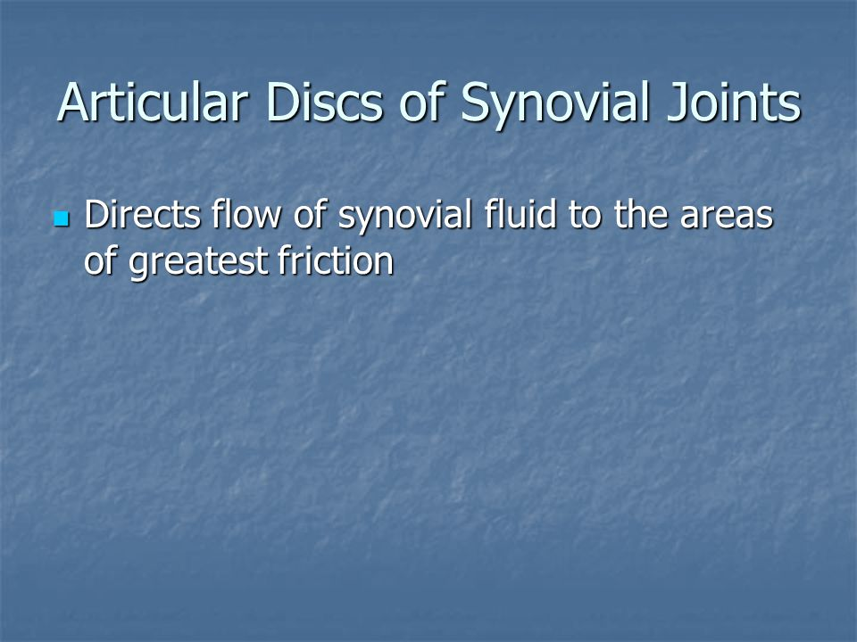 Articular Discs of Synovial Joints