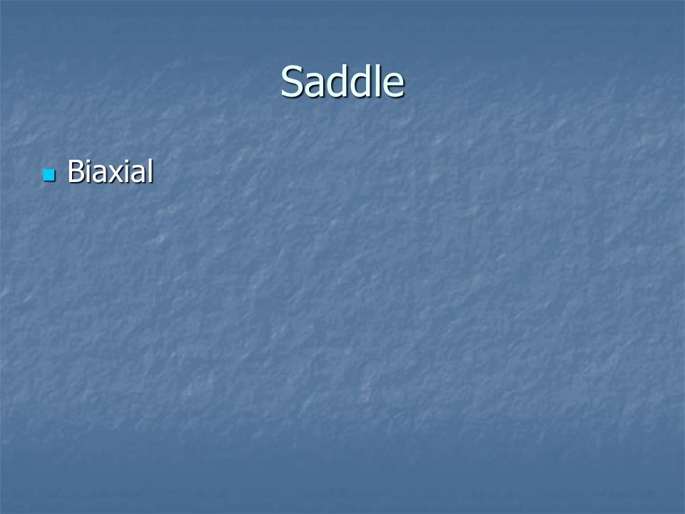Saddle Biaxial