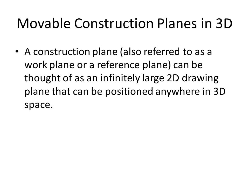 Movable Construction Planes in 3D