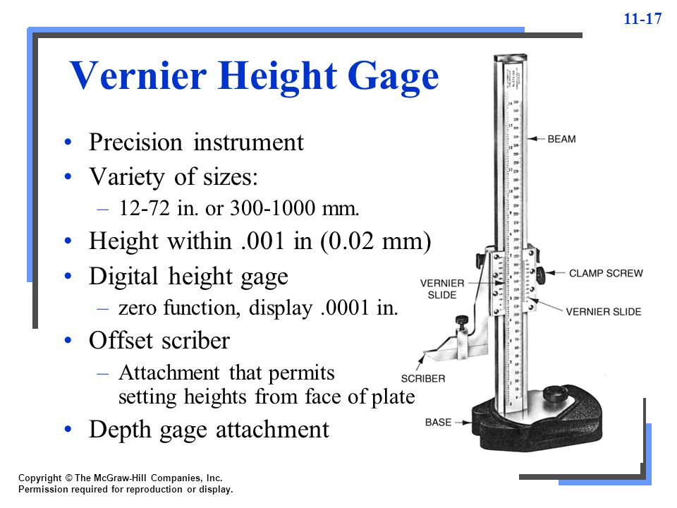 Vernier Height Gage Precision instrument Variety of sizes: