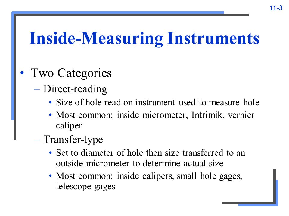Inside-Measuring Instruments