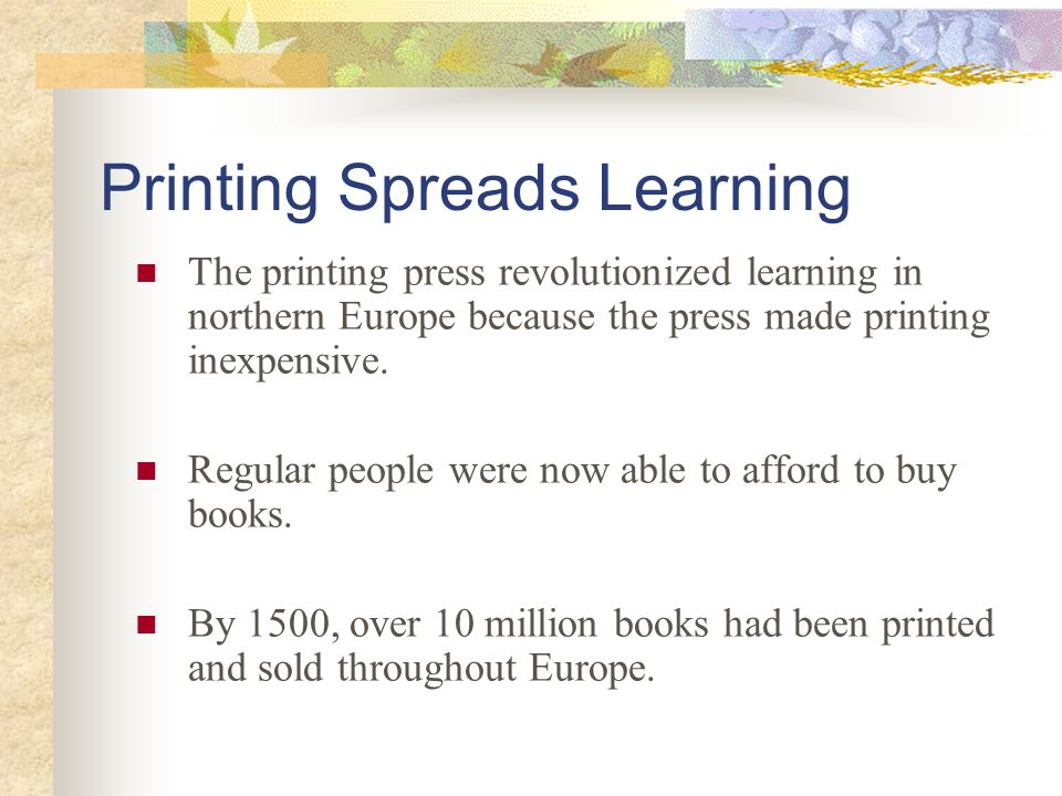 Printing Spreads Learning
