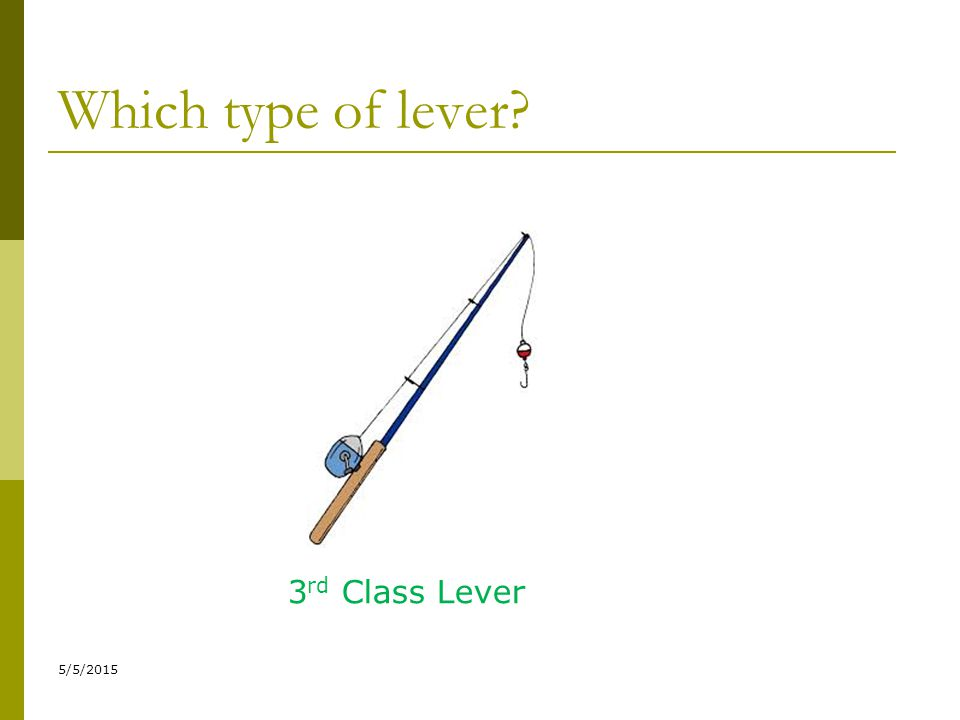 Which type of lever 3rd Class Lever 4/14/2017