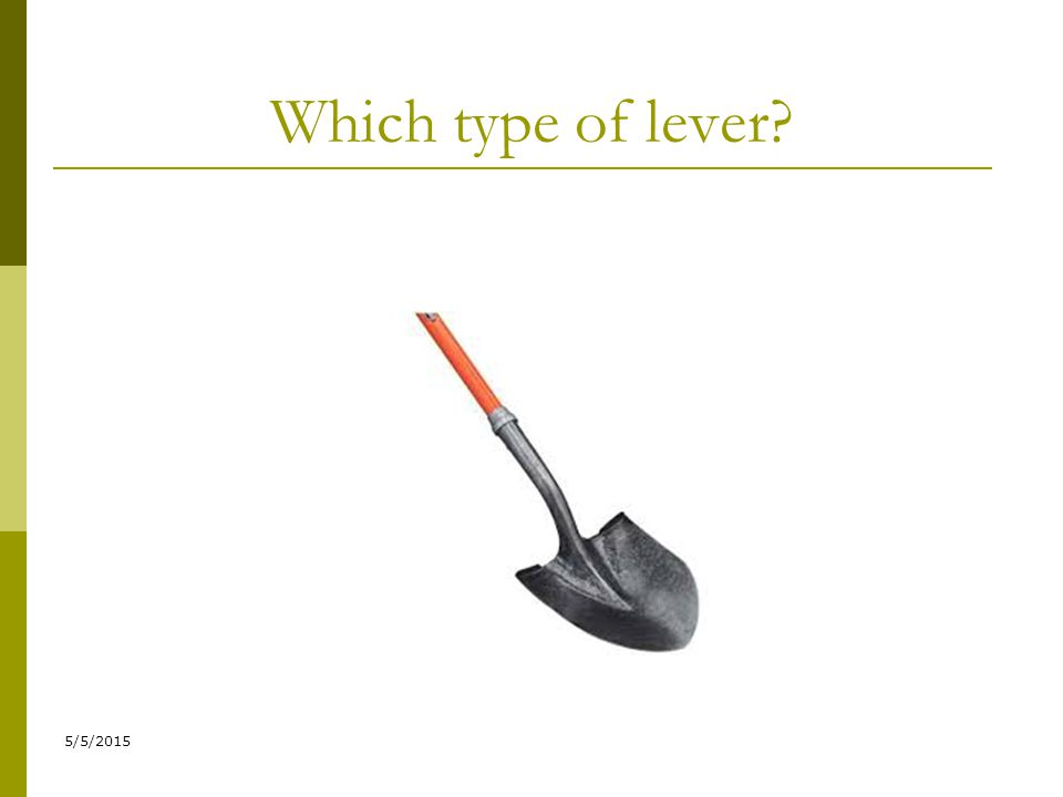 Which type of lever 4/14/2017
