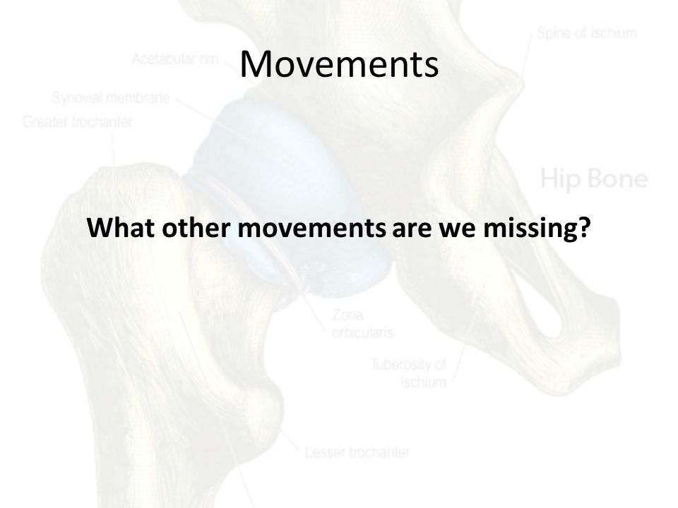 What other movements are we missing