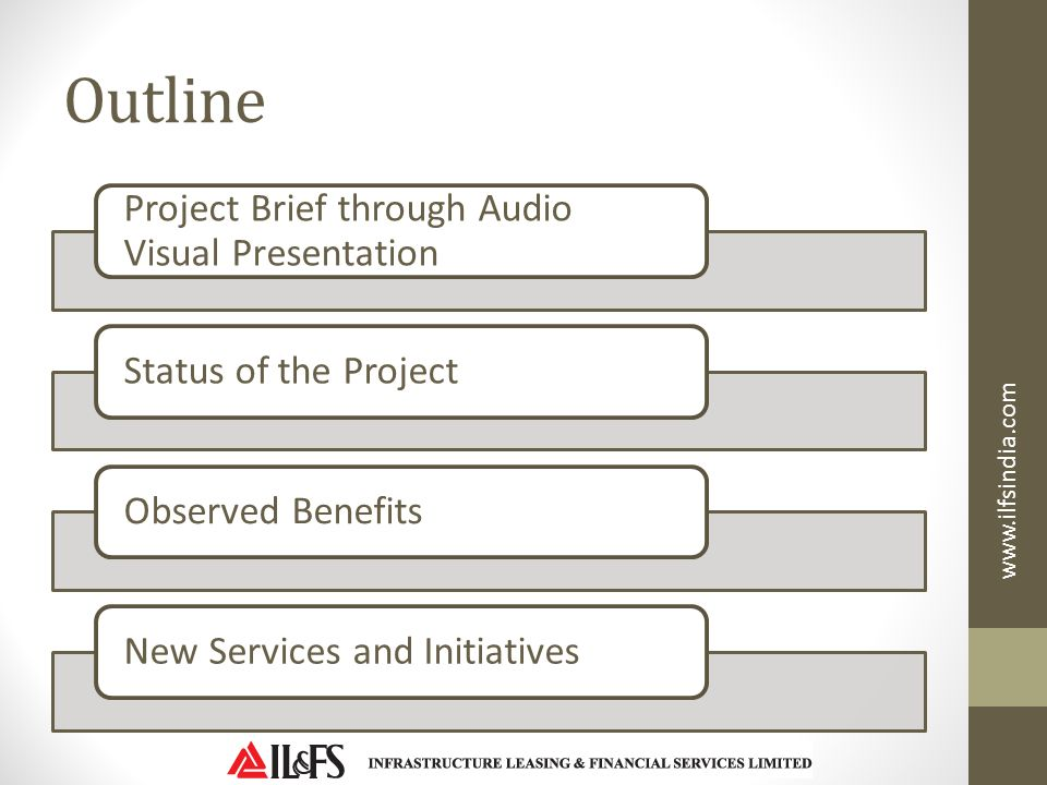 Outline Project Brief through Audio Visual Presentation