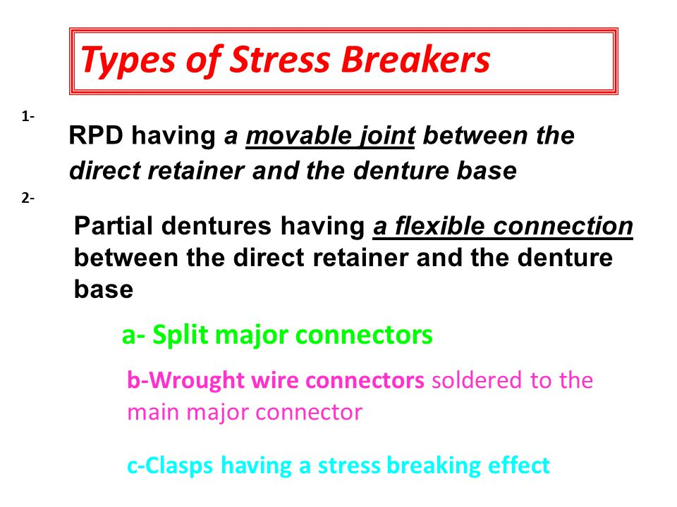 Types of Stress Breakers
