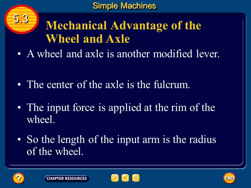 Mechanical Advantage of the Wheel and Axle