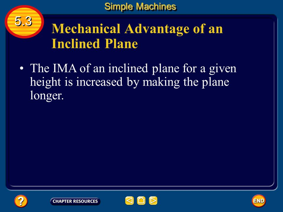 Mechanical Advantage of an Inclined Plane