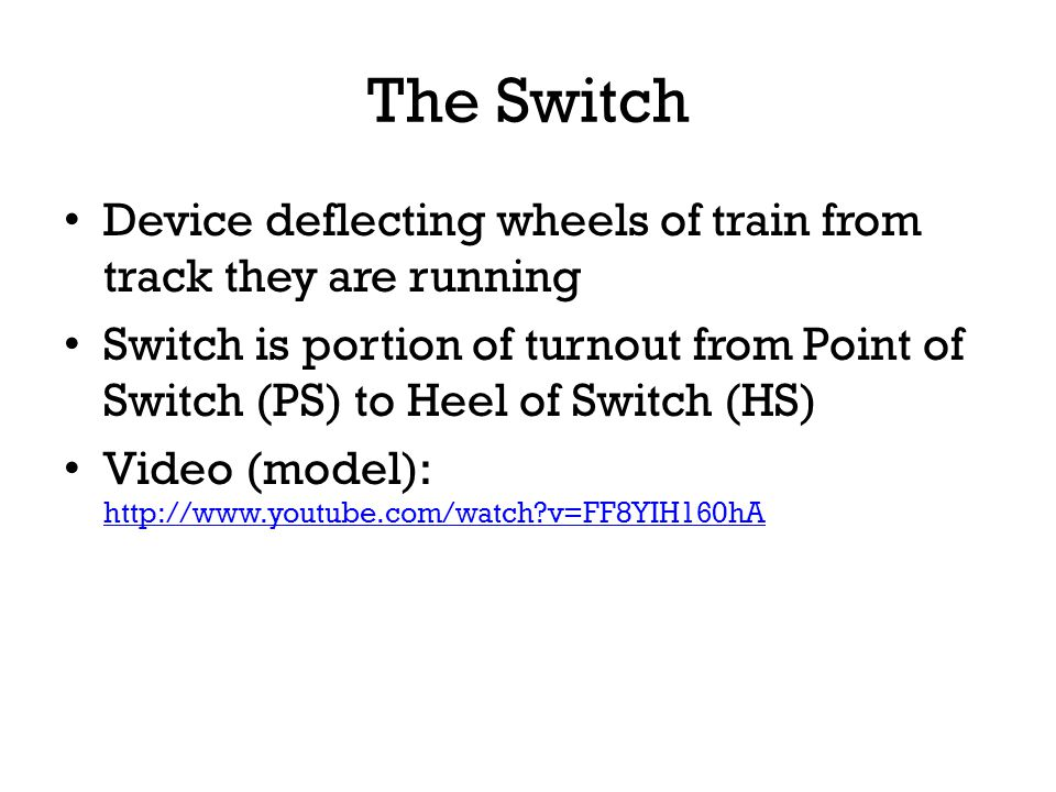 The Switch Device deflecting wheels of train from track they are running.