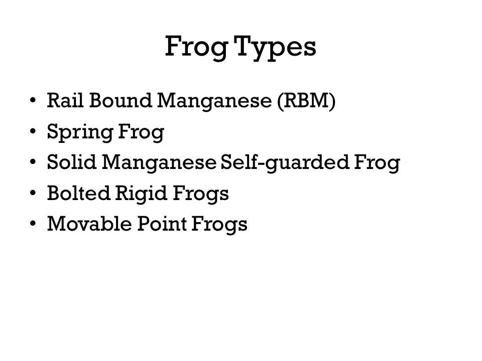 Frog Types Rail Bound Manganese (RBM) Spring Frog