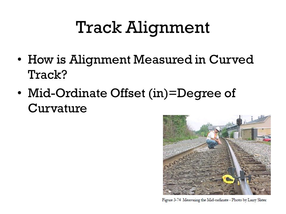 Track Alignment How is Alignment Measured in Curved Track