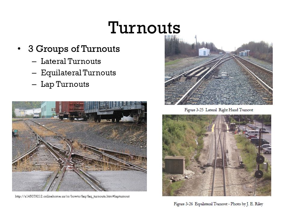 Turnouts 3 Groups of Turnouts Lateral Turnouts Equilateral Turnouts