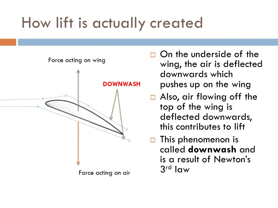 How lift is actually created
