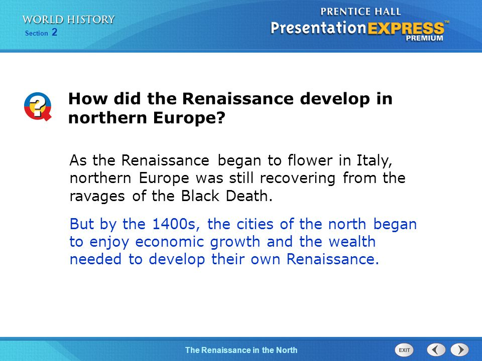 How did the Renaissance develop in northern Europe