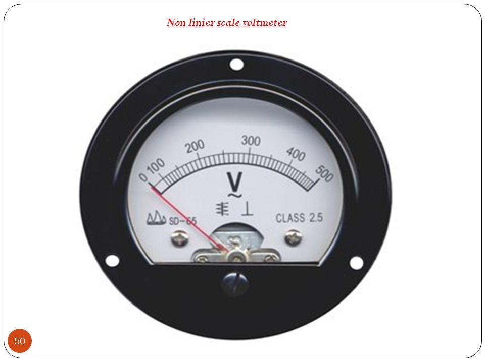 Non linier scale voltmeter