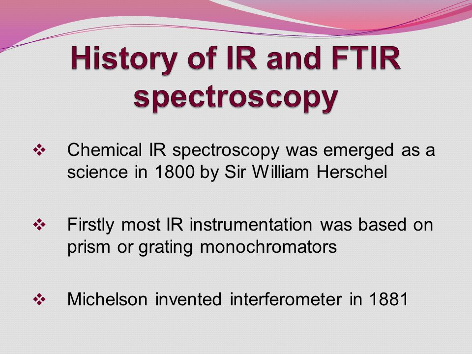 History of IR and FTIR spectroscopy