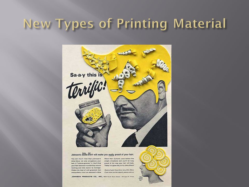 New Types of Printing Material