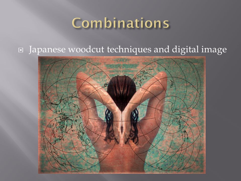 Combinations Japanese woodcut techniques and digital image