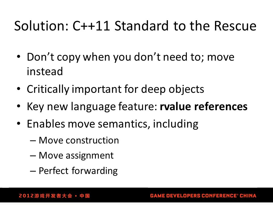 Solution: C++11 Standard to the Rescue